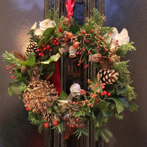 natural christmas wreath by damaris designs london