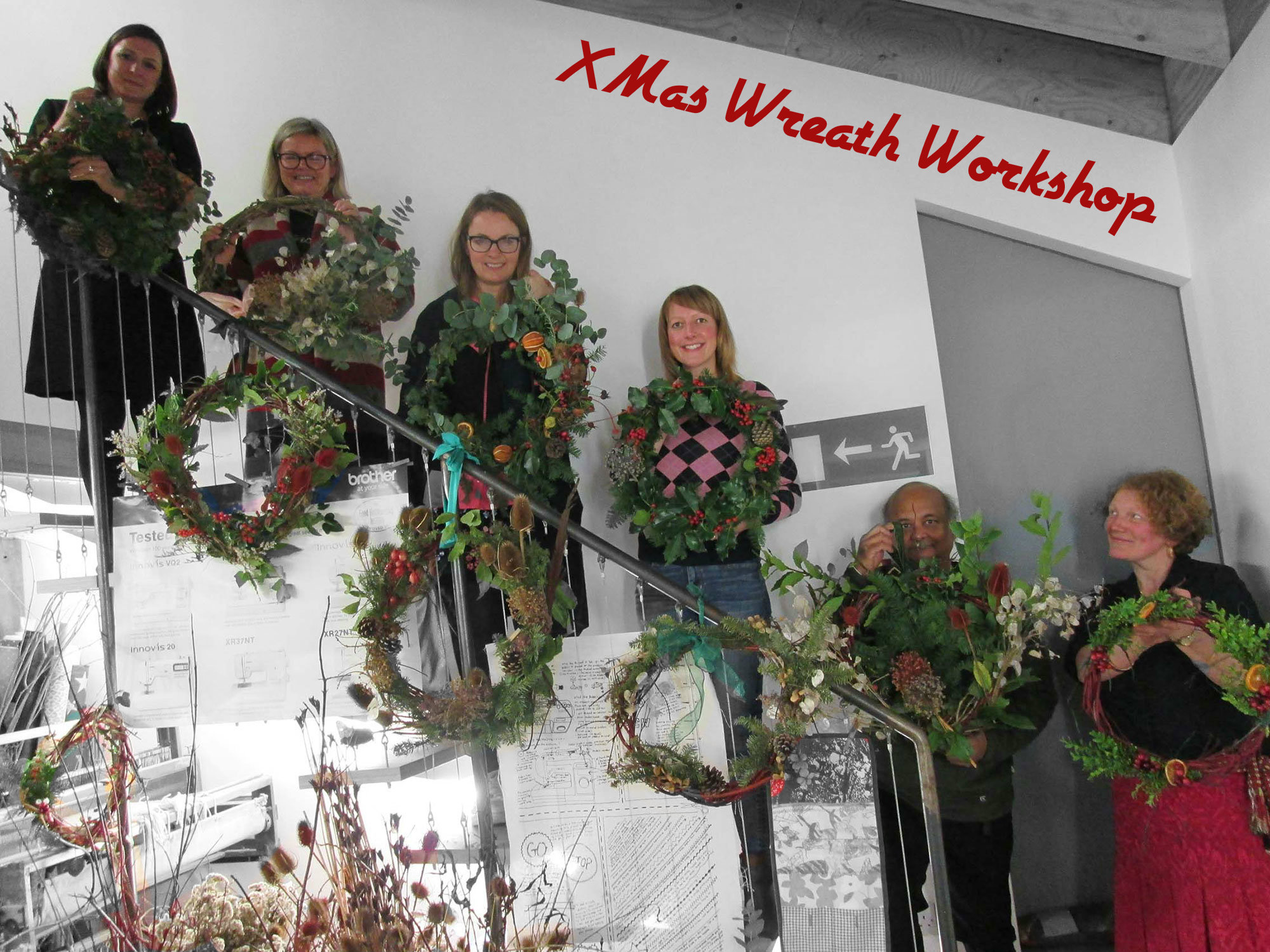 xmas wreath workshop by damaris designs